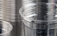 Heavy gauge high capacity systems - deep-drawn PET cups